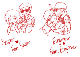 TF2 couples 2 by La-Mishi-Mish