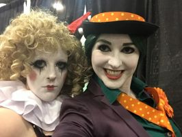 Circus Joker and Harley by jenna-breanne