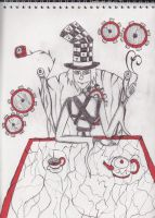The Mad Hatter's tea party by Dante6499