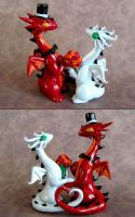 Dragon Wedding Cake Topper by DragonsAndBeasties