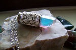 Angel Aura Quartz Crystal Filigree Silver Bullet by mymysticgems