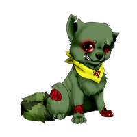 how can a zombi be cute? by nevaeh-lee