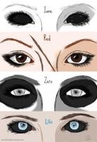 Creepypasta Girls' Eyes by Graciethezombie