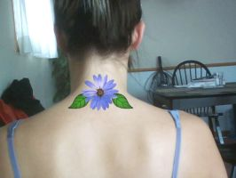 Blue daisy tattoo design by Dolly40