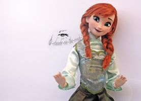 Disney Anna Doll Repaint | Green Dress by claude-on-the-road