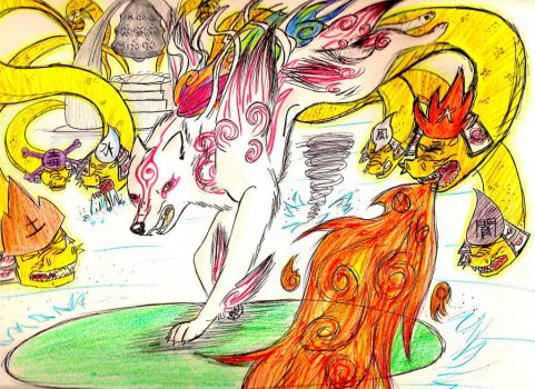 The Great Battle with Orochi by Yazora