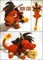 Final Fantasy Red XIII Plush by Meowchee