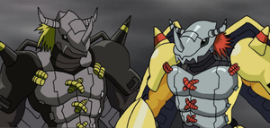 BlackWargreymon and WarGreymon by CherrygirlUK19