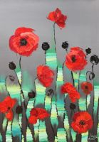 poppies by artist477