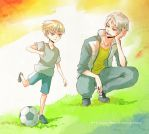 Hetalia: Learning Football by Lancha