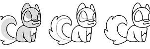 Small Cute Husky Adopt Lineart by PenguinBombSquad