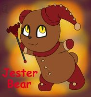 Jester Bear by MuseWhimsy