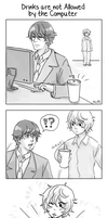 Indirect Kiss? - Sutenia Comic by cloverinblue