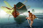 Gigant Mantis Attack by Vinyariel