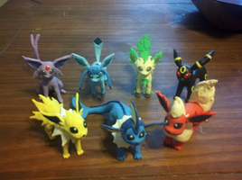 Eeveelution sculptures by mailboxbroussard