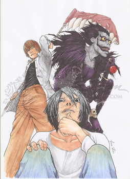 Death Note copic by AnneaGoewin