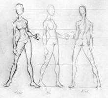 girl body template by cavalars