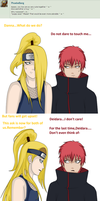 Question #1 DEIDARA and SASORI by AskDei-kun