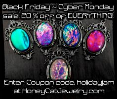 Black Friday / Cyber Monday Sale by HoneyCatJewelry