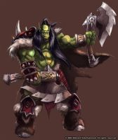 Warcraft - Orc Gladiator by SamwiseDidier