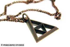 TriForce Pendant - Stainless Steel (OLD MODEL) by PeregrineStudios