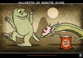 Hallowe'en On Monster Island by muzski