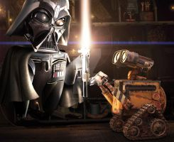 Wall-e use the Force by bruno-sousa