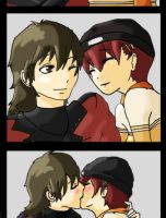 Love- Shinjiro and Minako by Hincaru