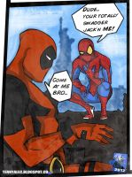 Spiderman X Deadpool by TerryAlec