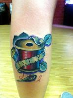 Needle and Spool Tattoo by EricTatt
