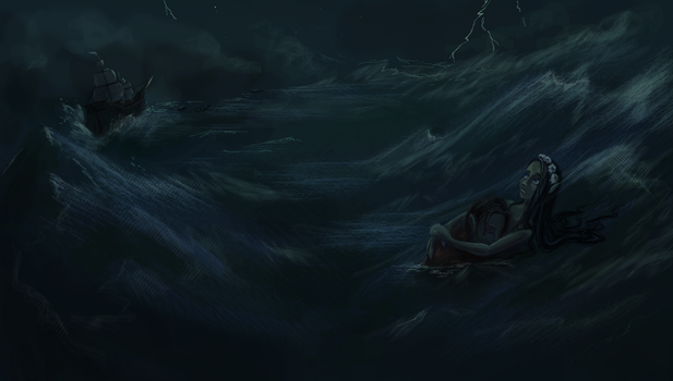 The Storm - The Little Mermaid Concept Art by gogo5992