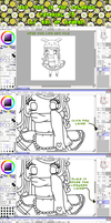 Crap Sai coloring tutorial w/ mouse by Mhiemi