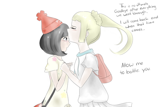 Female Protagonist x Lillie Pokemon Sun and Moon by TsunNekoTsumiki