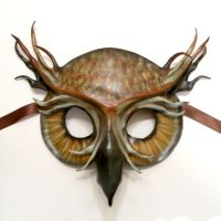 Great Horned Owl Leather Mask by Teonova by teonova