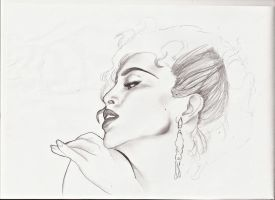 Madonna (sketch) by The-Cyclops