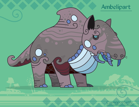 Hiraeth Creature #681 - Ambelipart by Cosmopoliturtle