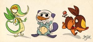 Pokemon Starter 5th Gen by Themrock