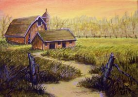 ACEO Barns by annieoakley64