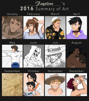 Art Summary 2016 by Fayolinn