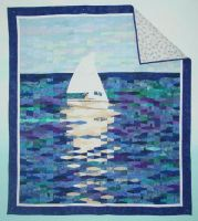 sailboat quilt by rosesarepink