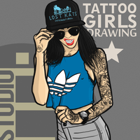 Tattoo girl by dimkoops