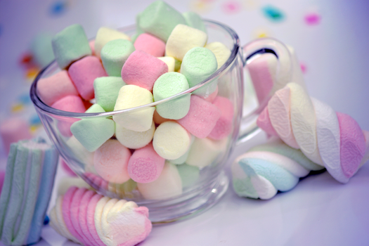 pastel marshmallows by ElectricSam