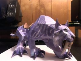 Warcraft Sabertooth Cat Papercraft by Meercat122