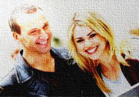 Christopher Eccleston and Billie Piper by cicalinascribacchina