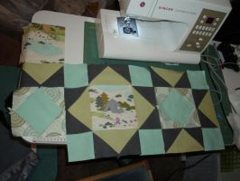 Baby Quilt Block by setralynn