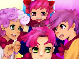 Cutie Mark Crusaders~~! by Leefuu