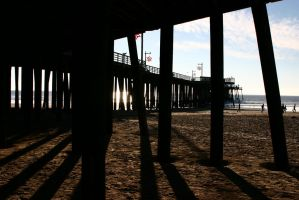 Shadows of the Pier by killersnowman