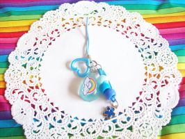 Blue Rainbow Cell Phone Charm by lessthan3chrissy