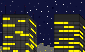 City Skyline 5 (Without Gradients) by Nosh59