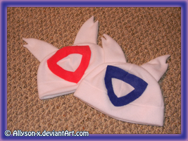 Latias and Latios Hats by Allyson-x
